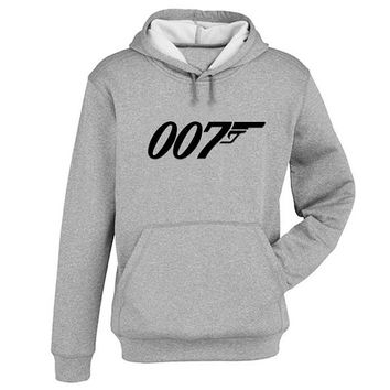 007 Hoodie Sweatshirt Sweater Shirt Gray and beauty variant color for Unisex size