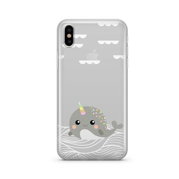 Narwhal - Clear Case Cover