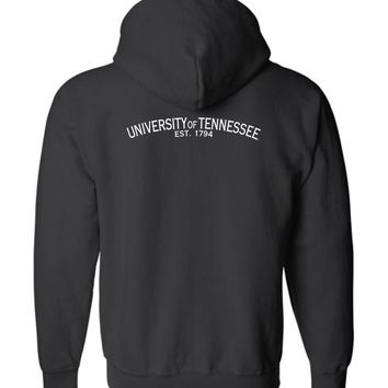 Official NCAA University of Tennessee Volunteers, Knoxville Vols UT UTK Women's Basic Zip Hoodie Est 1794 35tn-1-b