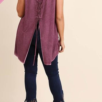 Inner Hippie Lace-Up Back Tank