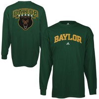 adidas Baylor Bears Relentless Long Sleeve T-Shirt - Green