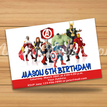 Avengers Design Invitation 2 - Digital File
