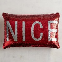 Naughty & Nice Reversible Sequined Mermaid Pillow