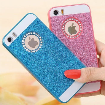 Candy Color Bling Crystal Diamond Glitter Hard Case Cover For iPhone 5 5S For Phone 6 4.7'' For iPhone 6 Plus 5.5 inch = 5987761409