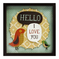 New View ''Hello I Love You'' Shadow Box