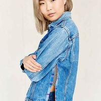 Urban Renewal Recycled Side Slit Denim Jacket