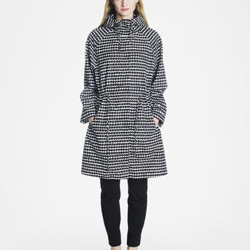 SADELLEN MARIMEKKO RAINCOAT BLACK/WHITE