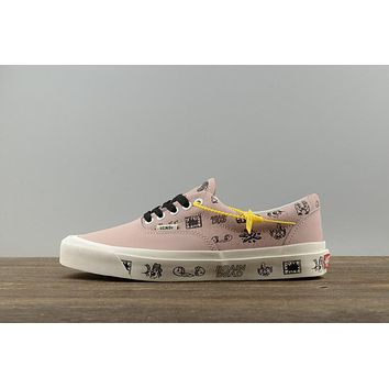 Brain Dead Vans Vault slip-on Low Top Men Flats Shoes Canvas Sneakers Women Sport Shoes Pink