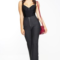 Streamline Bell Bottom Pants - Black