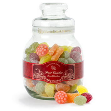 Cavendish and Harvey Fruit Hard Candy: 34-Ounce Jar