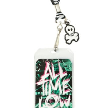 All Time Low Skull & Crossbones Lanyard