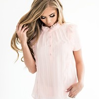 Flirty Florence Embroidered Top in Rose - JessaKae