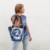 OOAK quilted bag BLUE SYMPHONY by katrinshine on Etsy