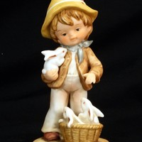 Vintage Enesco 1980 All the Lord's Children Boy With Ducks Figurine by Lucas at Pandgplus.com