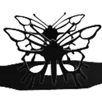Wrought Iron Butterfly Wine Glass Holder