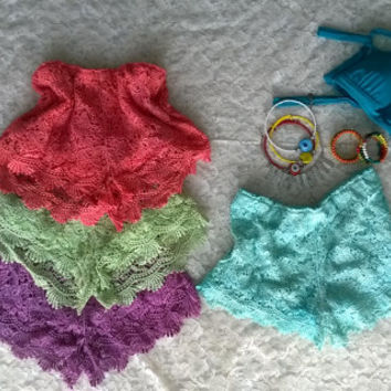 Lace Shorts, Cotton Lace Shorts, Hand Dyed Shorts, Summer Lace Shorts, Bohemian , Beach, Summer, Festival Outfit