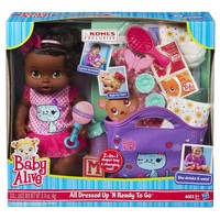 Baby Alive All Dressed Up 'N Ready To Go Doll Gift Set by Hasbro (Orange)