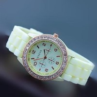 Mint Color Silicone Watch GCZ005B from topsales
