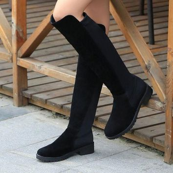 ICIK0OQ Winter Shoes Leather Stretch Boots [9432942858]