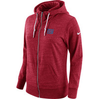 Women's Nike Red New York Giants Tailgate Vintage Full-Zip Hoodie