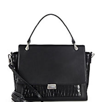 Elizabeth and James - Charlie Smooth Leather & Crocodile-Embossed Leather Satchel - Saks Fifth Avenue Mobile