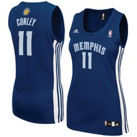 Women's Memphis Grizzlies Mike Conley adidas Navy Road Replica Jersey