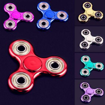 1Pcs Hot Selling EDC Toys Triangular Stress Wheel orqbar plating Professional Spinner Autism and ADHD Stress Wheel
