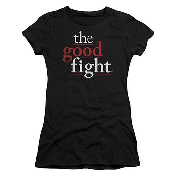 The Good Fight Juniors T-Shirt Logo Black Tee
