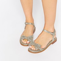 ASOS FUN DAYS Two Part Bow Sandals
