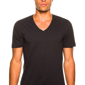 Y-3 M CL Black V-Neck T-Shirt