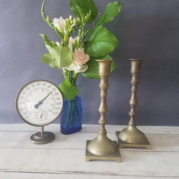 Brass Candlesticks/ Pair of Brass Candlesticks/ Vintage Brass Candlesticks/ Brass Candle holders/ Candle Sticks/ Vintage Brass Decor