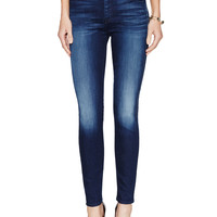 7 for All Mankind Women's Faded Ankle Skinny Jean - Blue -
