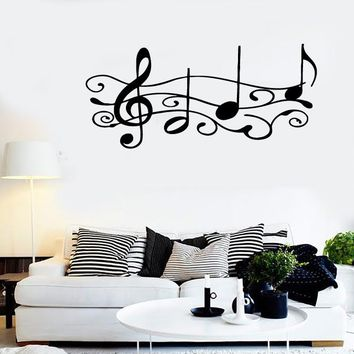 Wall Stickers Vinyl Decal Sheet Music For Living Room Decor ig1413