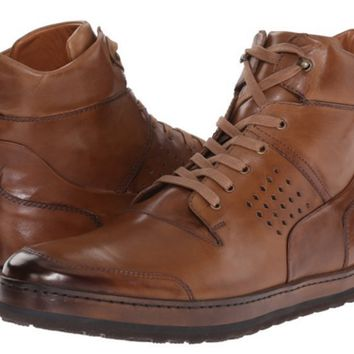 Mezlan Men's Cognac Leather Hitop Sneakers