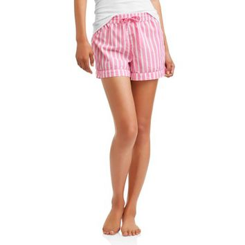 Secret Treasures Essentials Women's Woven Sleep Shorts With Drawstring - Walmart.com