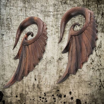 Hanging Angel Wing Hook Wood Plug - Prices are Per Pair