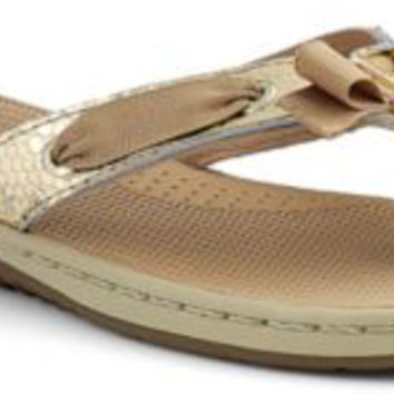 Sperry Top-Sider Serena Fish Thong Sandal GoldMetallicPython, Size 5M  Women's Shoes
