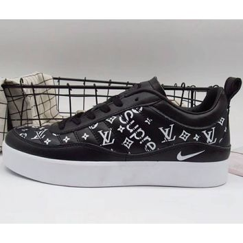 NIKE LAB x Supreme x LV joint trend leisure fashion shoes F-A36H-MY black