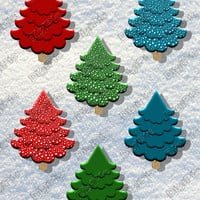 COMMERCIAL USE OK, Christmas Trees x 6, Digital Christmas Scrapbook,Clip Art, Instant Download