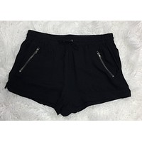 Faux Zipper Pocket Shorts