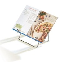 CHROME PLATE metal COOKBOOK HOLDER Kitchen DECOR NEW
