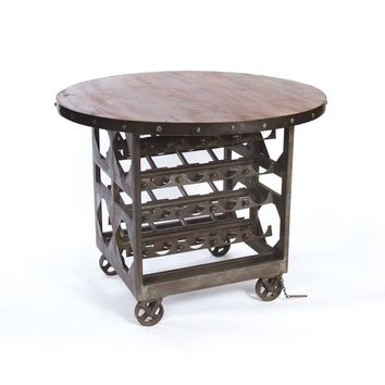 Steel with Reclaimed Wood Napa Cellar Table