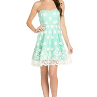 Sweetheart Tube A-Lind Floral Dress