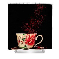 Rosehip Tea Art Shower Curtain