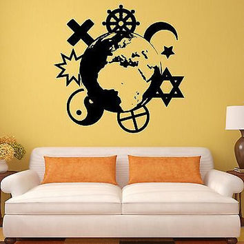 Wall Stickers Religions Christianity Islam Buddhism Mural Vinyl Decal (ig1943)
