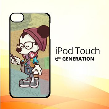 Hipster Mickey Mouse L1579 iPod Touch 6 Case