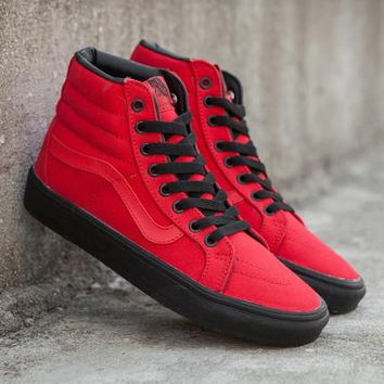 Trendsetter Vans SK8-Hi Reissue Black Outsole High-Top Canvas Sneakers  Sport Shoes 07d734166298