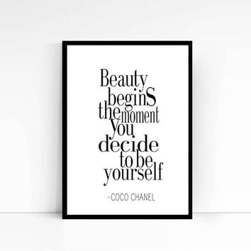 Coco Chanel Poster, Chanel Quote Shopping Quote Print, Inspirational Quotes, inspiring, funny typography, wall art, wall decor or for gift
