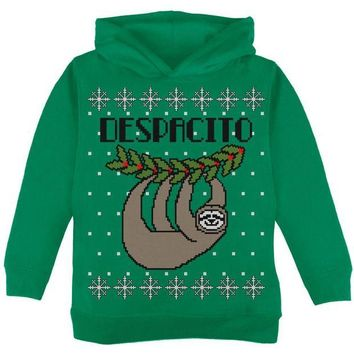 DCCKJY1 Despacito Means Slowly Sloth Funny Ugly Christmas Sweater Toddler Hoodie