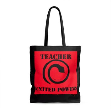 Teacher United Power AOP Tote Bag
